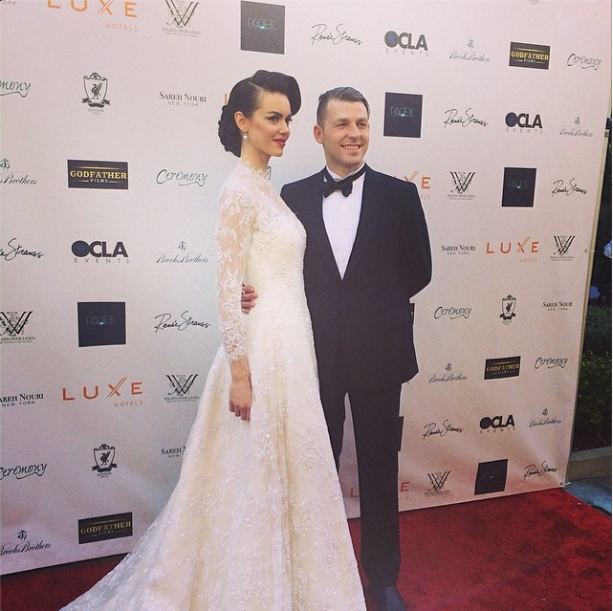 Oscar worthy wedding glam by Brooks Brothers @ Sareh Nouri