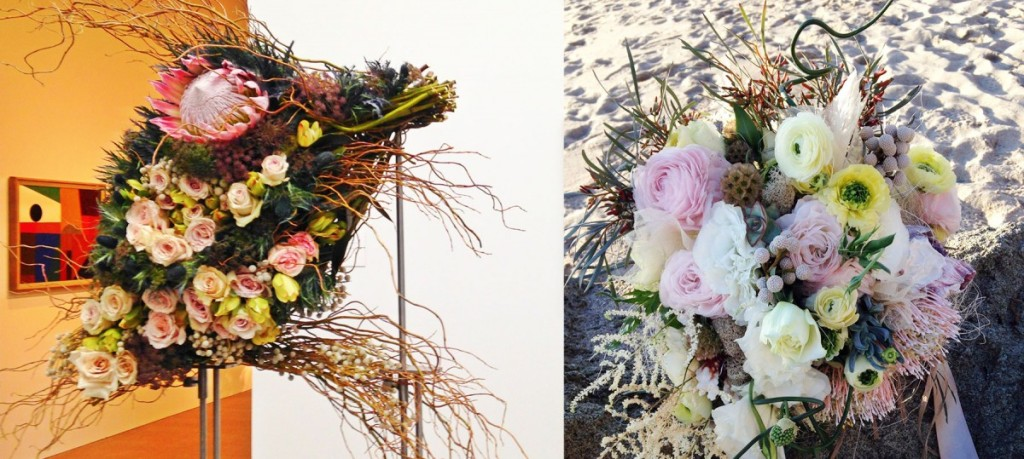 Bouquets to art blush beach palette